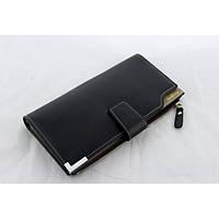 Мужской кошелек клатч портмоне барсетка Baellerry Carteira C1283 Чёрный, фото 1