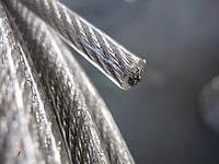 Канат стальной ПВХ 3/4 мм (трос оцинкованный в оплётке)