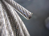 Канат стальной ПВХ 10/12 мм (трос оцинкованный в оплётке) от 50 м