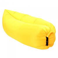 Ламзак надувной диван Lamzac гамак, шезлонг, матрас Двухслойный Жёлтый