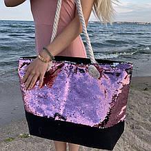 Сумка женская Sequins Pink Пайетки