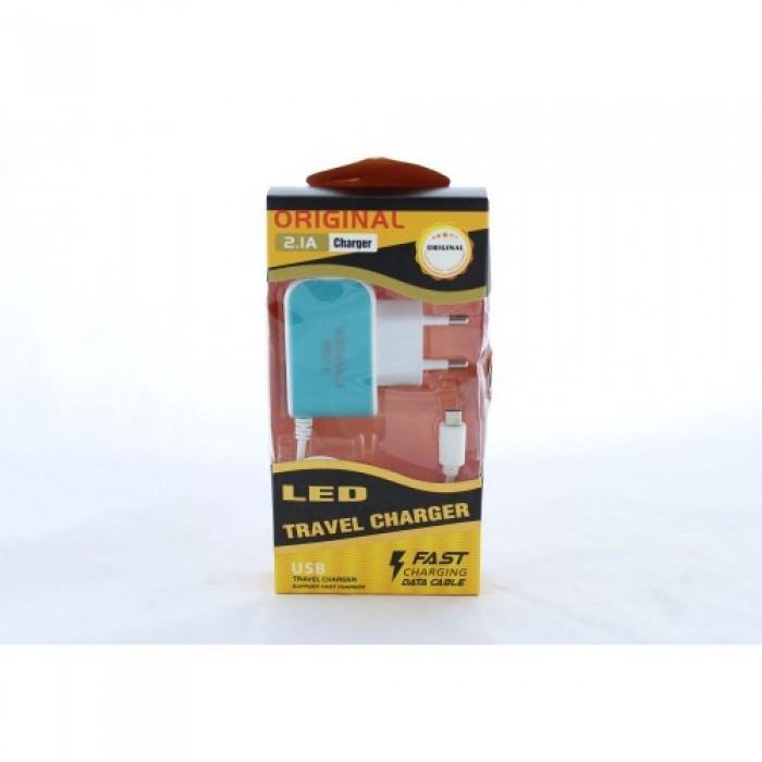 Адаптер блок питания зарядка на 3 USB с подсветкой