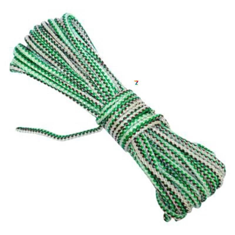 Веревка плетеная полипропиленовая бельевая 6 мм х 100 м (мотузка білизняна побутова) ЦВЕТНАЯ