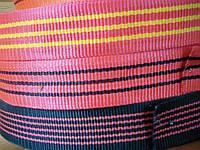 Лента буксировочная капроновая 50 мм х 50 метров 2 тонны Красная - тесьма красная