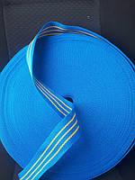 Лента буксировочная капроновая 50 мм х 50 метров 2 тонны - тесьма синяя