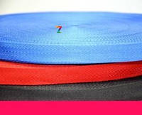 Лента ременная текстильная 25 мм синяя (стропа нейлоновая для сумок и рюкзаков, стрічка поліпропіленова)