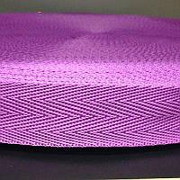 Лента ременная текстильная 25 мм малиновая (стропа нейлоновая для сумок и рюкзаков, стрічка поліпропіленова)