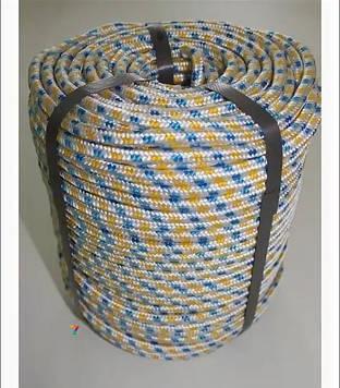 Фал полипропиленовый Ø 12 мм плетеный (фал поліпропіленовий плетений кольоровий) от 100 м