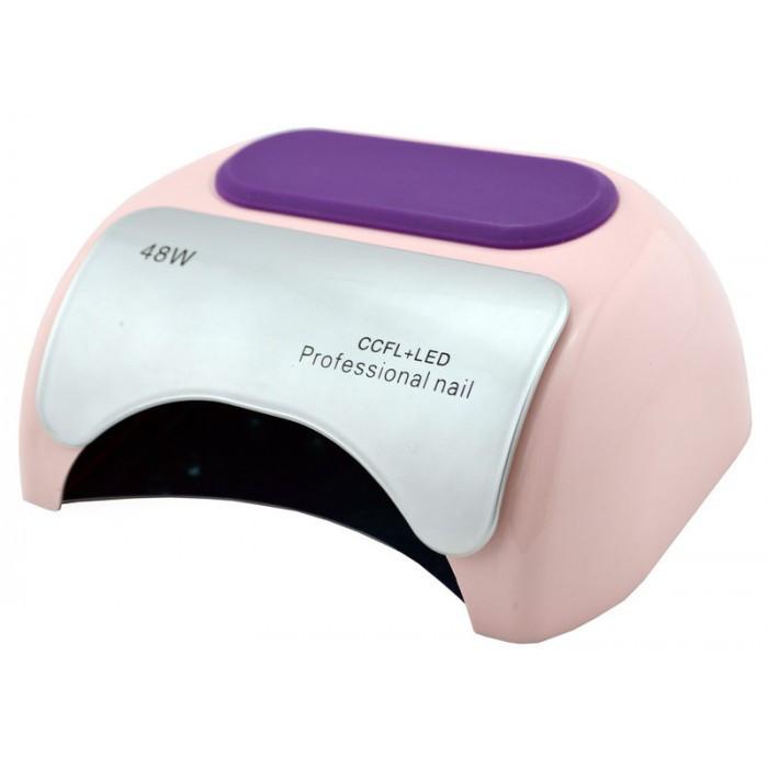 УФ лампа для ногтей Beauty nail 18K CCFL LED 48W сушилка сенсор Светло-розовый
