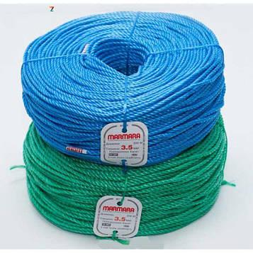 Мотузка поліпропіленова кручена Мармара 6 мм х 200 м (канат Marmara)