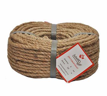 Веревка джутовая JuteRD 6 мм х 100 м  бечевка  канат пеньковый  мотузка джутова  Украина