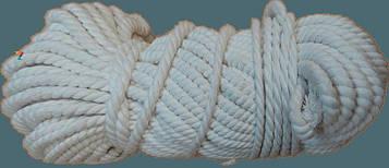 Веревка Х/Б крученая Ø 6 мм (50 метров) – Канат хлопковый «ДИЛОНГ» – Хлопчатобумажный шнур – Мотузка бавовняна