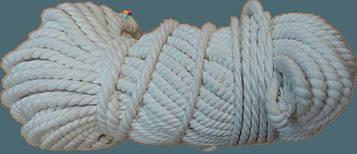 Веревка Х/Б крученая Ø 8 мм (50 метров) – Канат хлопковый «ДИЛОНГ» – Хлопчатобумажный шнур – Мотузка бавовняна