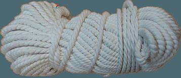 Веревка Х/Б крученая Ø 10 мм (50 метров) – Канат хлопковый «ДИЛОНГ» – Хлопчатобумажный шнур – Мотузка бавовнян