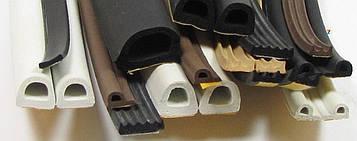 Уплотнитель для дверей D 9 х 7.5 х 100 метров (самоклеящийся для окон, резиновый, гаражный, польский, EPDM)
