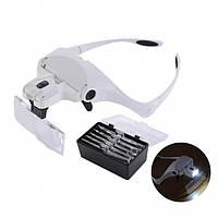 Бинокуляр очки бинокулярные со светодиодной подсветкой 9892BP, фото 1