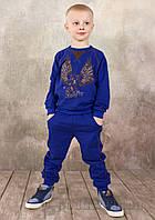 Детские спортивные брюки для мальчика Модный карапуз 03-00571 Синие 122