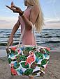 Сумка пляжная Фламинго Flamingo and Pineapple, фото 3