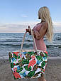 Сумка пляжная Фламинго Flamingo and Pineapple, фото 2