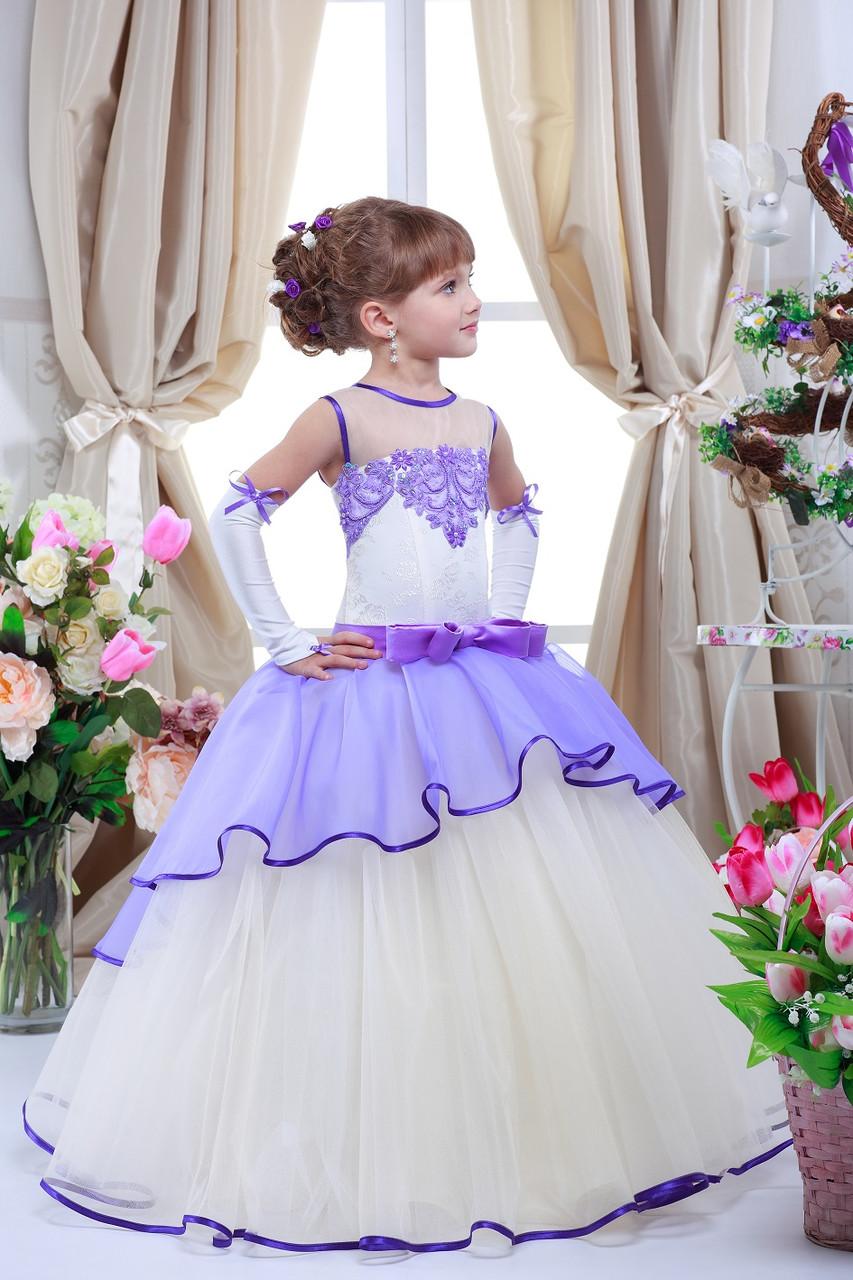 Платье вечернее сиреневого цвета Доната