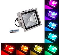 Светодиодный прожектор 30Вт RGB цветной с пультом, фото 1