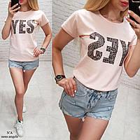 Женская футболка, хлопок. S,M,L,ХL