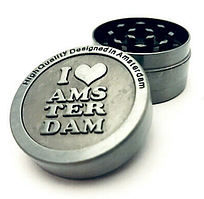Крешер метал для табака  LOVE AMSTERDAM(4cm)  3 части