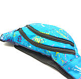 Бананка (сумка на пояс) U-fas 31 x 13 см Блакитний (b4346/3), фото 3