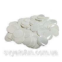 Конфетти Кружочки, 23 мм, цвет белый, 50 г.