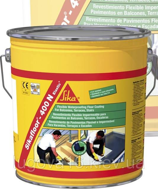Гидроизоляционное напольное полиуретановое  покрытие для террас, балконов, кровли - Sikafloor-400 N Elastic+