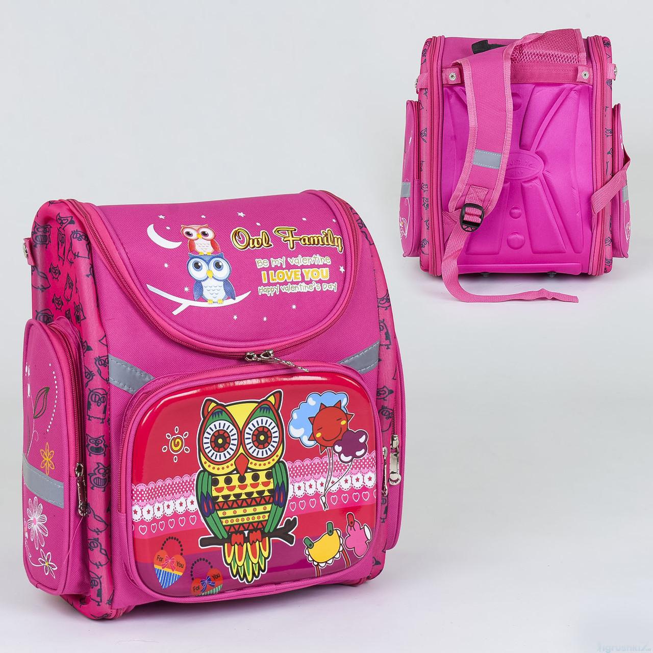 Рюкзак школьный каркасный C 36185, 1 отделение, 3 кармана, спинка ортопедическая