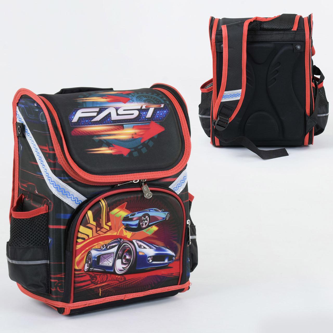 Рюкзак школьный каркасный С 36182, 1 отделение, 3 кармана, спинка ортопедическая, 3D изображение