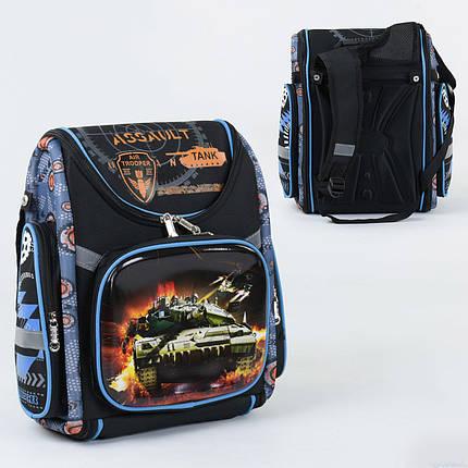 Рюкзак школьный каркасный С 36191, 1 отделение, 3 кармана, спинка ортопедическая, фото 2