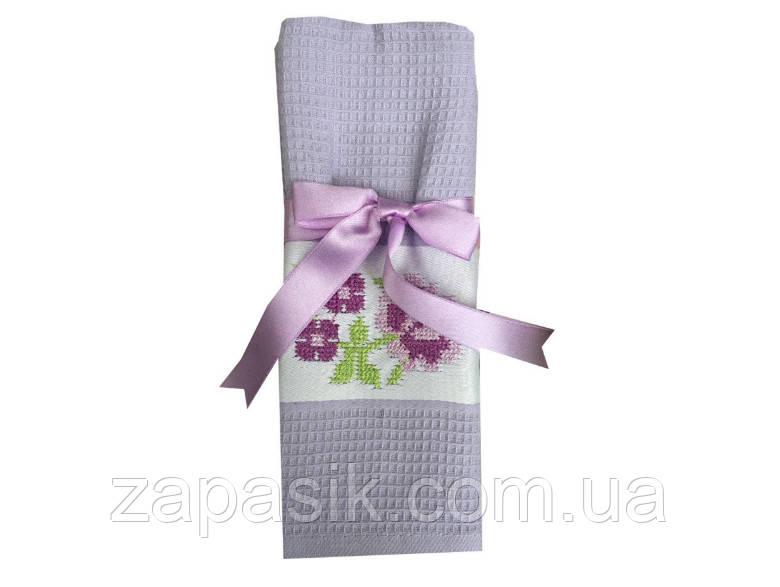 Полотенце Вафельное Кухонное С Вышивкой Размер 50х70