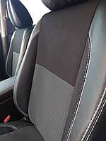 Toyota Prius 2012↗ гг. Авточехлы (кожзам↗ткань, Premium)