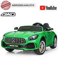 Детский двухместный электромобиль Mercedes-AMG GT, M 3905EBLR-5 зеленый