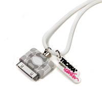 Шнурок для iPhone 4/4S MUSE, бело-серый