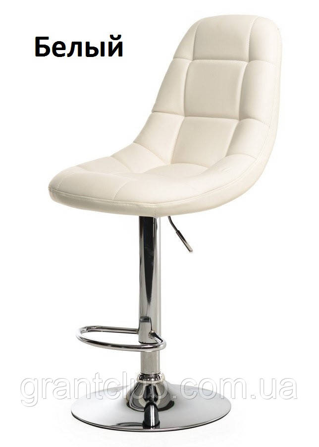Барный стул B-45 белый искусственная кожа Vetro Mebel