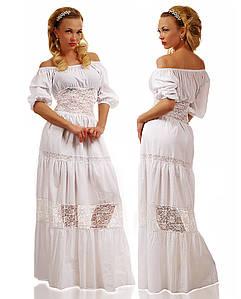 """Летнее длинное женское платье """"Снежанна"""" (287-192)"""