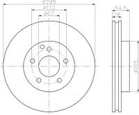 Диск тормозной (передний) MB E-class (W211/S211) 02-09 (295x28) PRO+, TEXTAR 92115105