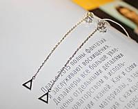 Висячие серьги гвоздики Дельта треугольник, фото 1