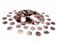 Конфетти Кружочки, 23 мм, цвет розовое золото, 50 г.