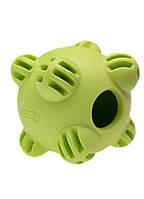 Игрушка Comfy Snaky мяч-кормушка зеленый, 8,5 см, 113373