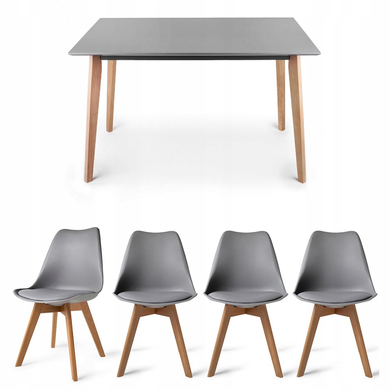 Комплект стіл для кухні JOVIK + 4 стільця BREKKA HOMEKRAFT