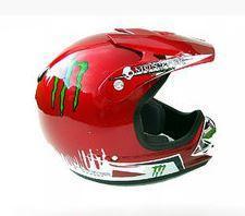 Мото шлем MONSTER красный