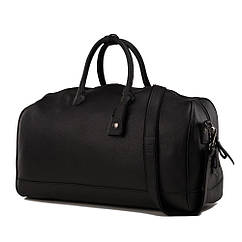 Cумка дорожная кожаная TIDING BAG M47-21455-1A Черный, КОД: 111293