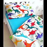 Комплект постельного белья Дино-пати,  в  детскую кроватку, фото 2
