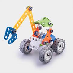 Детский мягкий конструктор Keedo Лесной экскаватор 74 детали 6-J-7704, КОД: 118431