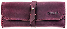 Кожаный футляр для очков Valenta Бордовый  О-8 бордовый, КОД: 186025