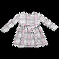 Платье Dexters Клеточка 122 см Серо-розовый d9001-4, КОД: 1081684
